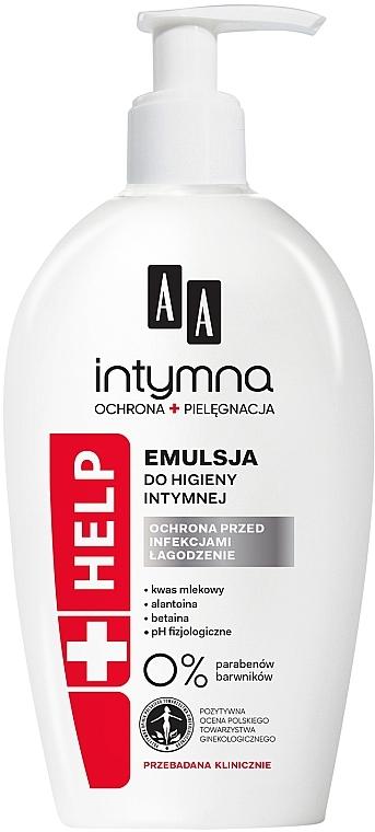 Antibakterielle beruhigende Emulsion für die Intimhygiene - AA Intimate Help+