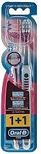 Düfte, Parfümerie und Kosmetik Zahnbürsten-Set Extra Soft blau, rosa 2 St. - Oral-B Ultrathin Precision Gum Care Extra Soft