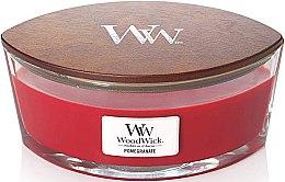 Düfte, Parfümerie und Kosmetik Duftkerze im Glas Pomegranate - Woodwick Candle Ellipse Jar Pomegranate