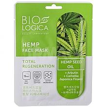 Düfte, Parfümerie und Kosmetik Intensiv regenerierende Tuchmaske für das Gesicht mit Hanfsamenöl - Biologica Hemp