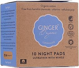 Düfte, Parfümerie und Kosmetik Damenbinden für die Nacht mit Flügeln 10 St. - Ginger Organic
