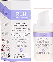 Düfte, Parfümerie und Kosmetik Aufhellende Anti-Aging Augencreme mit Lifting-Effekt - Ren Keep Young And Beautiful
