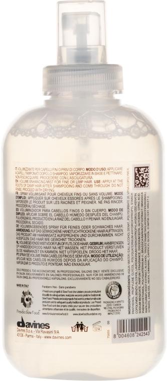 Haarspray für mehr Volumen mit Rübenwurzelextrakt - Davines Volumr Enhancing Conditioner — Bild N2