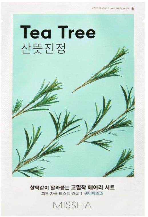 Gesichtsmaske mit Teebaum-Extrakt - Missha Airy Fit Tea Tree Sheet Mask