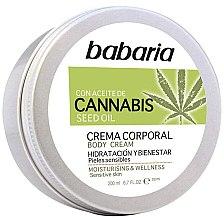 Düfte, Parfümerie und Kosmetik Feuchtigkeitsspendende Körpercreme mit Hanfsamenöl für empfindliche Haut - Babaria Cannabis Moisturizing Body Cream