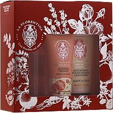 Düfte, Parfümerie und Kosmetik Körperpflegeset Granatapfel - La Florentina Pomegranate (Körperspray 200ml + Körperlotion 200ml + Handcreme 75ml)