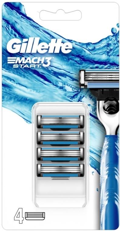 Ersatzklingen 4 St. - Gillette Mach3 Start Razor Blades