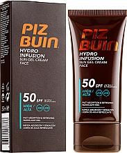 Düfte, Parfümerie und Kosmetik Gesichtsgel-Creme mit Sonnenschutz SPF 50 - Piz Buin Hydro Infusion SPF 50