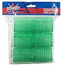 Düfte, Parfümerie und Kosmetik Klettwickler 48/63 mm grün 6 St. - Ronney Professional Velcro Roller