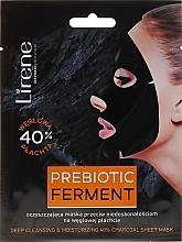 Düfte, Parfümerie und Kosmetik Gesichtsmaske mit Holzkohlentuch - Lirene Deep Cleansing and Moisturing 40% Charcoal Sheet Mask