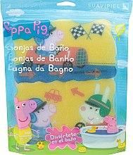 Düfte, Parfümerie und Kosmetik Badeschwamm-Set Peppa Pig Rennen 3 St. - Suavipiel Peppa Pig Bath Sponge