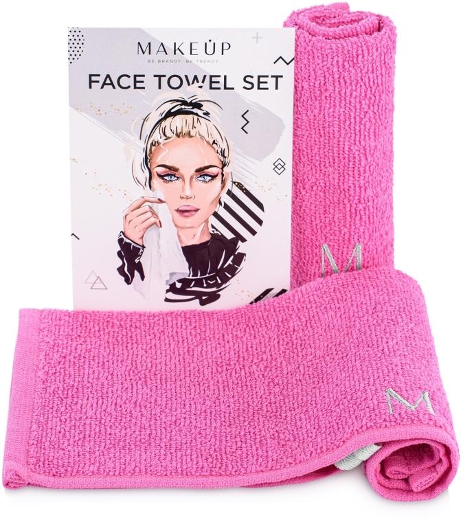 Reiseset Gesichtstücher MakeTravel rosa - Makeup Face Towel Set
