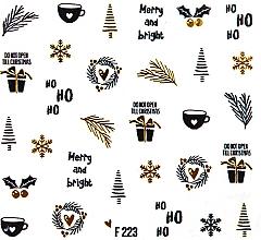 Düfte, Parfümerie und Kosmetik Dekorative Nagelsticker Weihnachten 2020 - Peggy Sage Christmas 2020