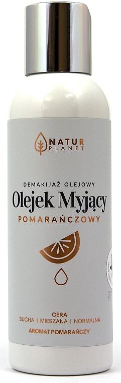 Gesichtsreinigungsöl zum Abschminken mit Orangenduft für normale, trockene und Mischhaut - Natur Planet Facial Cleansing Oil Orange