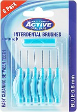 Düfte, Parfümerie und Kosmetik Interdentalzahnbürsten-Set 0,6 mm 6 St. - Beauty Formulas Active Oral Care Interdental Brushes Blue