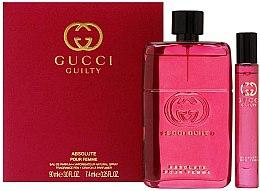 Düfte, Parfümerie und Kosmetik Gucci Guilty Absolute Pour Femme - Duftset (Eau de Parfum 90ml + Eau de Parfum Mini 7,4ml)