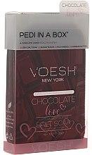 Düfte, Parfümerie und Kosmetik 4-stufige Chocolate Love Fußpflege - Voesh Deluxe Pedicure Chocolate Love Pedi In A Box 4in1 (1. Meer Badesalz, 2. Zuckerpeeling, 3. Schlammmaske, 4. Massagebutter)(35g)