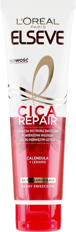 Aufbauende Haarpflege für geschädigte Längen und Enden ohne Ausspülen - L'Oreal Paris Elseve Total Repair 5 Cica Repair