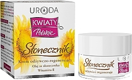 Düfte, Parfümerie und Kosmetik Pflegende und glättende Gesichtscreme mit Sonnenblumenöl und Vitamin E - Uroda Kwiaty Polskie Stonecznik Cream