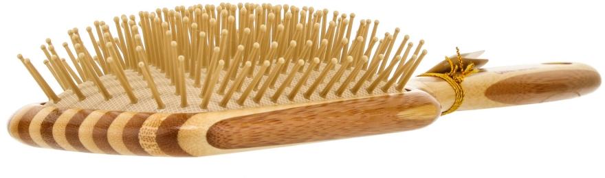 Bambus Paddlebürste für Haar mit Nylonborsten - Olivia Garden Healthy Hair Rectangular Epoxy Eco-Friendly Bamboo Brush — Bild N2