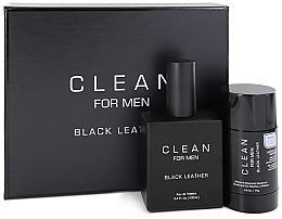 Düfte, Parfümerie und Kosmetik Duftset - Clean Black Leather Men (Eau de Toilette 100ml + Deodorant 75ml)