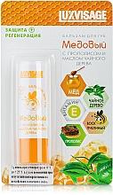 Düfte, Parfümerie und Kosmetik Schützender und regenerierender Lippenbalsam mit Honig, Propolis und Teebaumöl - Luxvisage