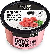Düfte, Parfümerie und Kosmetik Körperpeeling mit Bio Himbeerextrakt und braunem Zucker - Organic Shop Body Scrub Organic Raspberry & Sugar