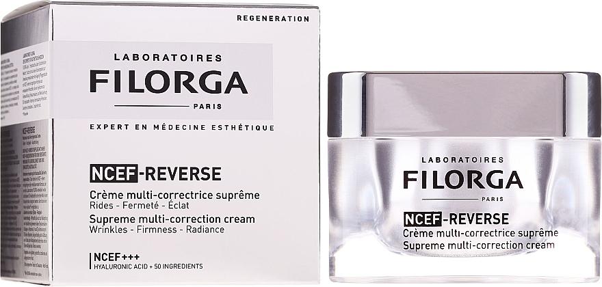 Regenerierende Anti-Aging Gesichtscreme mit Hyaluronsäure und Kollagen - Filorga NCTF-Reverse Supreme Regenerating Cream
