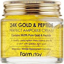 Düfte, Parfümerie und Kosmetik Ampullencreme mit Gold und Peptiden - FarmStay 24K Gold & Peptide Perfect Ampoule Cream
