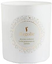 Düfte, Parfümerie und Kosmetik Duftkerze im Glas Zedernbaum, Orangenblüte, Jasmin - Flagolie Soy Candle