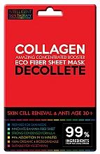 Düfte, Parfümerie und Kosmetik Zellerneuernde Anti-Aging Tuchmaske für das Dekolleté mit Meereskollagen 30+ - Beauty Face IST Skin Cell Reneval & Anti Age Decolette Mask Marine Collagen