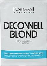 Düfte, Parfümerie und Kosmetik Aufhellender Haarpuder Anti-Gelbstich - Kosswell Professional Decowell Blond