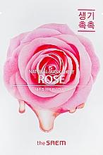 Düfte, Parfümerie und Kosmetik Feuchtigkeitsspendende und reinigende Tuchmaske für das Gesicht mit Rosenextrakt gegen Reizungen, Rötungen und Hautunreinheiten - The Saem Natural Rose Mask Sheet