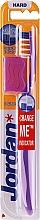 Düfte, Parfümerie und Kosmetik Zahnbürste mit Schutzkappe hart Advanced violett-weiß - Jordan Advanced Toothbrush