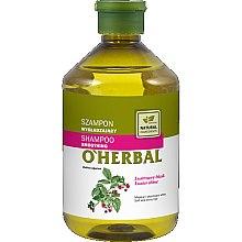 Düfte, Parfümerie und Kosmetik Shampoo mit Himbeerextrakt für glatte und glänzende Haare - O'Herbal Smoothing Shampoo