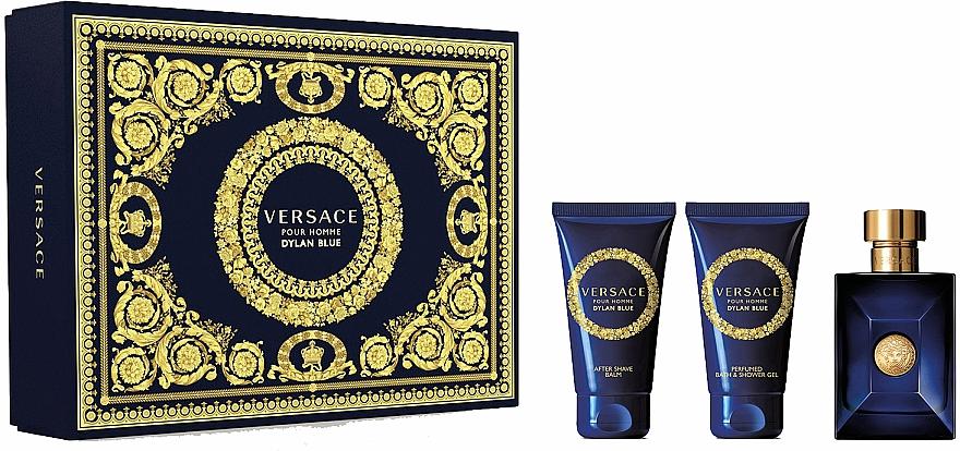 Versace Dylan Blue Pour Homme - Duftset (Eau de Toilette 50ml + Duschgel 50ml + After Shave Balsam 50ml)