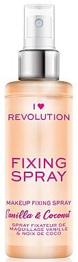 Make-up-Fixierspray Vanille und Kokosnuss - I Heart Revolution Fixing Spray Vanilla & Coconut