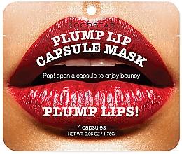 Düfte, Parfümerie und Kosmetik Serum in Kapselnform zur Vergrößerung der Lippen mit Jojobaöl und Argan - Kocostar Plump Lip Capsule Mask Pouch