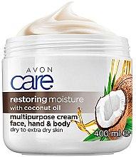 Düfte, Parfümerie und Kosmetik Intensiv regenerierende und feuchtigkeitsspendende Körper- und Gesichtscreme mit Kokosöl für trockene und sehr trockene Haut - Avon Care
