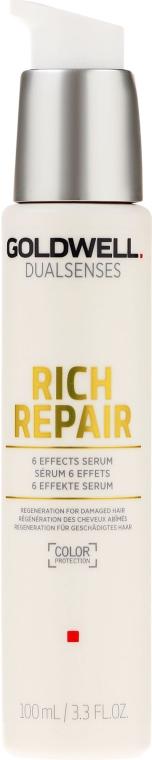 Reichhaltiges regenerierendes Haarserum für trockenes, geschädigtes und gestresstes Haar - Goldwell Dualsenses Rich Repair 6 Effects Serum — Bild N1