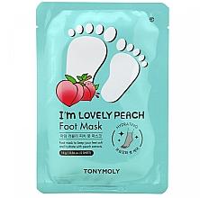 Düfte, Parfümerie und Kosmetik Aufweichende Fußmaske mit Pfirsich-Extrakt - Tony Moly I'm Lovely Peach Foot Mask