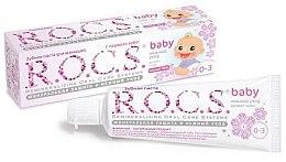 Düfte, Parfümerie und Kosmetik Milde Zahnpasta für Babys mit Lindenduft 0-3 Jahre - R.O.C.S. Baby