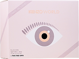 Düfte, Parfümerie und Kosmetik Kenzo World Eau de Toilette - Duftset (Eau de Toilette 75ml + Körperlotion 75ml + Kosmetiktasche)