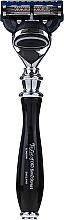 Düfte, Parfümerie und Kosmetik Rasierer 15542B - Taylor Of Old Bond Street Fusion Black Victorian Handle