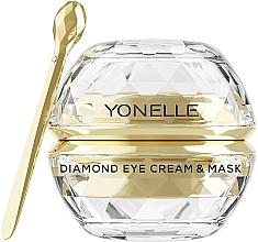 Düfte, Parfümerie und Kosmetik Vejüngende Creme-Maske für die Augen- und Lippenpartie mit Gold und Diamanten - Yonelle Diamond Eye Cream & Mask