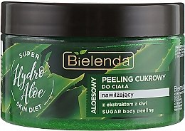 Düfte, Parfümerie und Kosmetik Feuchtigkeitsspendendes Zucker-Körperpeeling mit Aloe Vera und Kiwiextrakt - Bielenda Super Skin Diet Hydro Aloe