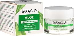 Düfte, Parfümerie und Kosmetik Anti-Falten-Feuchtigkeitscreme mit Aloe und Hyaluronsäure - Miraculum Gracja Aloe Moisturizing Face Cream