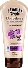 Düfte, Parfümerie und Kosmetik Sonnenschutzlotion mit Grüntee-Extrakt und Antioxidantien SPF 50 - Hawaiian Tropic Duo Defence Sun Lotion SPF 50