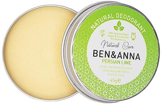 Natürliche Deo-Creme mit Kalk - Ben & Anna Persian Lime Soda Cream Deodorant
