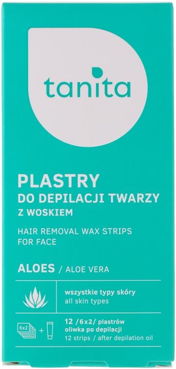 Enthaarungswachsstreifen für das Gesicht mit Aloe Vera - Tanita — Bild N1